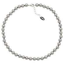 Buy Finesse 8mm Faux Pearl Necklace, Grey Online at johnlewis.com