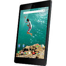 "Buy Google Nexus 9 Tablet, NVIDIA Tegra K1, Android, 8.9"" Wi-Fi & 4G LTE, 32GB, Indigo Black Online at johnlewis.com"