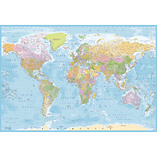 Buy 1Wall Blue Map Wall Mural Online at johnlewis.com