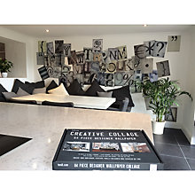 Buy 1Wall Typography Wall Collage, 64 Piece Online at johnlewis.com