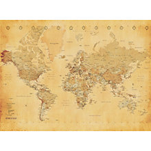 Buy 1Wall Vintage Map Wall Mural Online at johnlewis.com