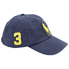 Buy Polo Ralph Lauren Large Pony Baseball Cap, Navy Online at johnlewis.com