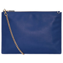 Buy Whistles Rivington Chain Pouch Leather Bag, Blue Online at johnlewis.com