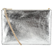 Buy Whistles Rivington Chain Clutch, Silver Online at johnlewis.com