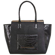 Buy Miss Selfridge Croc Wing Tote Bag, Black Online at johnlewis.com