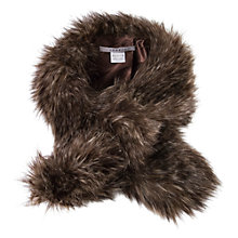 Buy Chesca Faux Fur Slip Through Scarf, Racoon Online at johnlewis.com