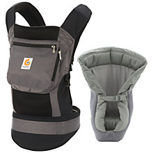 Buy Ergobaby Performance Baby Carrier & Infant Insert, Black/Charcoal Online at johnlewis.com
