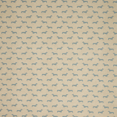 Image of Emily Bond Dachshund PVC Tablecloth Fabric, Blue