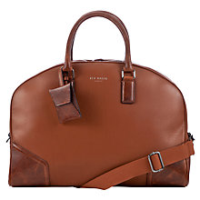 Buy Ted Baker Promsey Leather Holdall Bag, Tan Online at johnlewis.com