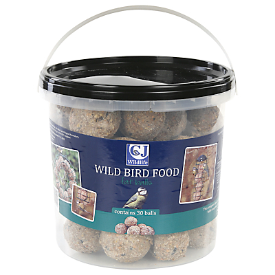 CJ Wildlife Fat Ball Bird Feed Bucket, Pack of 30