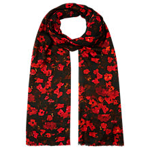Buy Kaliko Floral Print Scarf, Red Online at johnlewis.com