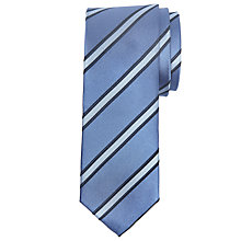Buy Daniel Hechter Regimental Stripe Silk Tie, Blue Online at johnlewis.com