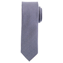Buy Daniel Hechter Semi Plain Silk Tie, Navy/White Online at johnlewis.com