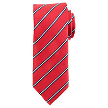 Buy Daniel Hechter Thin Stripe Silk Tie Online at johnlewis.com