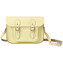 "Buy The Cambridge Satchel Company The Classic 11"" Leather Satchel Bag, Lemon Online at johnlewis.com"