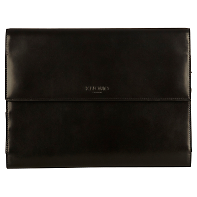 "Image of Knomo Knomad Mini Leather, Portable Organiser for Tablets up to 8"", Black"