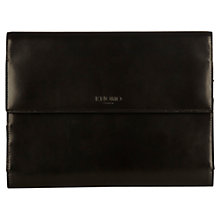 "Buy Knomo Knomad Mini Leather, Portable Organiser for Tablets up to 8"", Black Online at johnlewis.com"