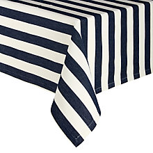 Buy Lexington Striped Tablecloth, Navy Online at johnlewis.com