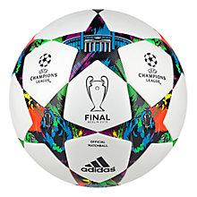Buy Adidas Champions League Finale 2015 Official MatchDay Football, White/Solar Blue Online at johnlewis.com