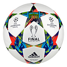 Buy Adidas Finale Berlin Top Training Football, Size 5, White/Flash Green Online at johnlewis.com