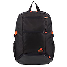 Buy Adidas Run Backpack, Black/Red Online at johnlewis.com