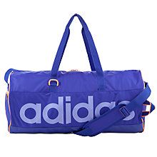 Buy Adidas Barrel Logo Holdall, Purple Online at johnlewis.com