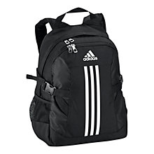 Buy Adidas 3 Stripes Backpack, Black/White Online at johnlewis.com