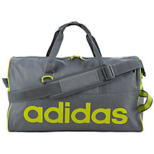Buy Adidas Linear Performance Team Bag, Grey/Yellow Online at johnlewis.com