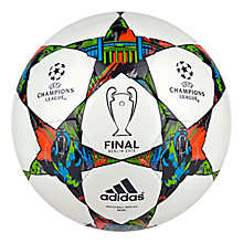 Buy Adidas Champions League Finale 2015 Mini Football, White/Solar Blue Online at johnlewis.com