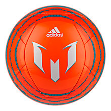 Buy Adidas Messi 10 Glider Football, Size 5, Solar Orange/Bold Orange Online at johnlewis.com