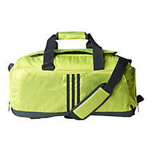 Buy Adidas 3-Stripes Performance Small Team Bag, Semi Solar Yellow Online at johnlewis.com