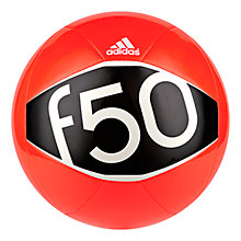 Buy Adidas F50 X-Ite 2 Football, Size 5, Solar Red/Core Black Online at johnlewis.com