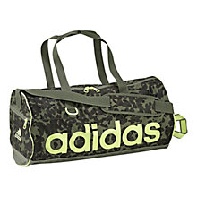 Buy Adidas Printed Duffle Bag, Camouflage Green Online at johnlewis.com