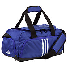 Buy Adidas 3-Stripes Performance Extra Small Team Bag, Purple/White Online at johnlewis.com