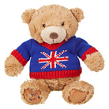 Buy John Lewis Jumper Lewis Bear, Medium Online at johnlewis.com