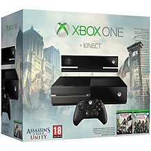 Buy Microsoft Xbox One Console with Kinect Sensor and Assassin's Creed Unity Online at johnlewis.com