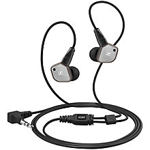 Buy Sennheiser IE 80 Ear Canal Headphones with Mic/Remote, Black Online at johnlewis.com