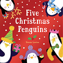 Buy Five Christmas Penguins Children's Book Online at johnlewis.com