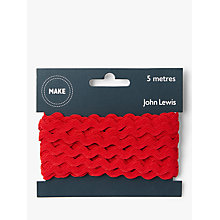 Buy John Lewis 6mm Ric Rac, 5m, Red Online at johnlewis.com