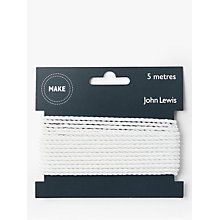 Buy John Lewis 3mm Twisted Cord, 5m, White Online at johnlewis.com
