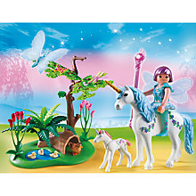 Buy Playmobil Fairies Fairy Aquarella In The Unicorn Meadow Online at johnlewis.com