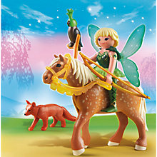 Buy Playmobil Fairies Forest Fairy Diana With Horse Online at johnlewis.com