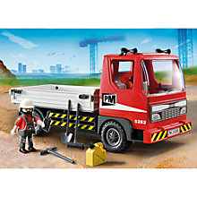 Buy Playmobil City Action Flatbed Construction Truck Online at johnlewis.com
