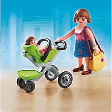 Buy Playmobil City Life Mother With Infant Stroller Online at johnlewis.com