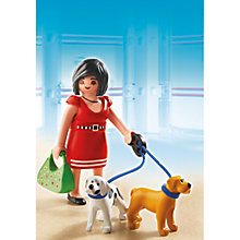 Buy Playmobil City Life Woman With Puppies Online at johnlewis.com