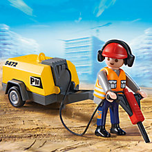 Buy Playmobil City Action Construction Worker Online at johnlewis.com