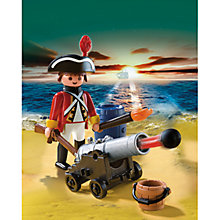 Buy Playmobil Pirates Redcoat Guard With Cannon Online at johnlewis.com