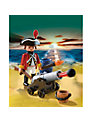 Playmobil Pirates Redcoat Guard With Cannon