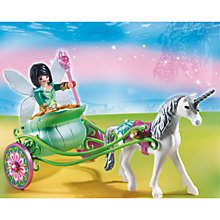 Buy Playmobil Fairies Unicorn Carriage With Butterfly Fairy Online at johnlewis.com