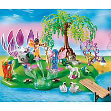 Buy Playmobil Fairies Fairy Island With Jewel Fountain Online at johnlewis.com